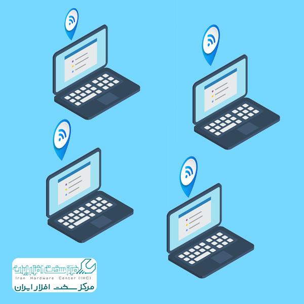 اتصال چند لپ تاپ با وایرلس