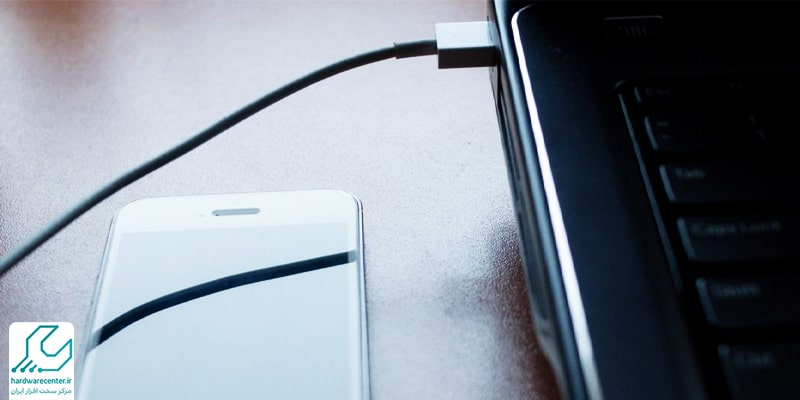 اتصال موبایل به لپ تاپ لنوو با کابل USB